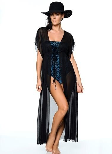 Kom Plaj Elbisesi Siyah